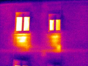 Termografia impianti riscaldamento dispersione calore verso esterno