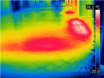 Termografia infiltrazioni di acqua - Copertura tetto piano