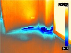 Termografia infiltrazioni di acqua serramento