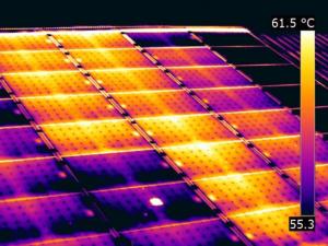 Termografia fotovoltaico inverter stringhe difettoso
