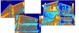 Termografia infiltrazioni di acqua - Facciata con problemi infiltrazioni