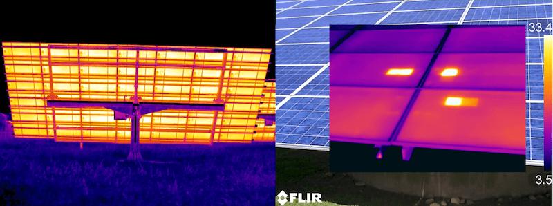 Termografia fotovoltaico ispezione frontale e posteriore
