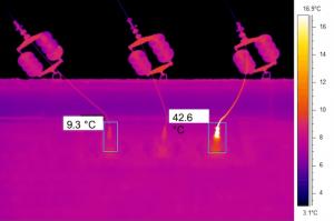 Termografia impianti elettrici linea alta tensione