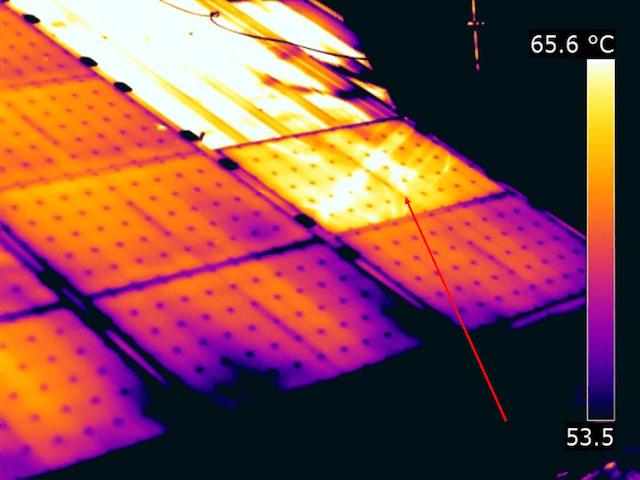 Termografia fotovoltaico pannello non collegato
