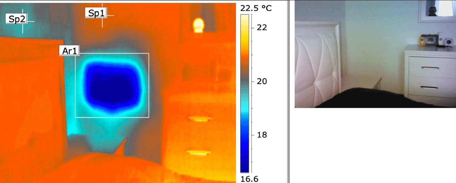Termografia muffa e condensa - Mancata coibentazione cassetta water