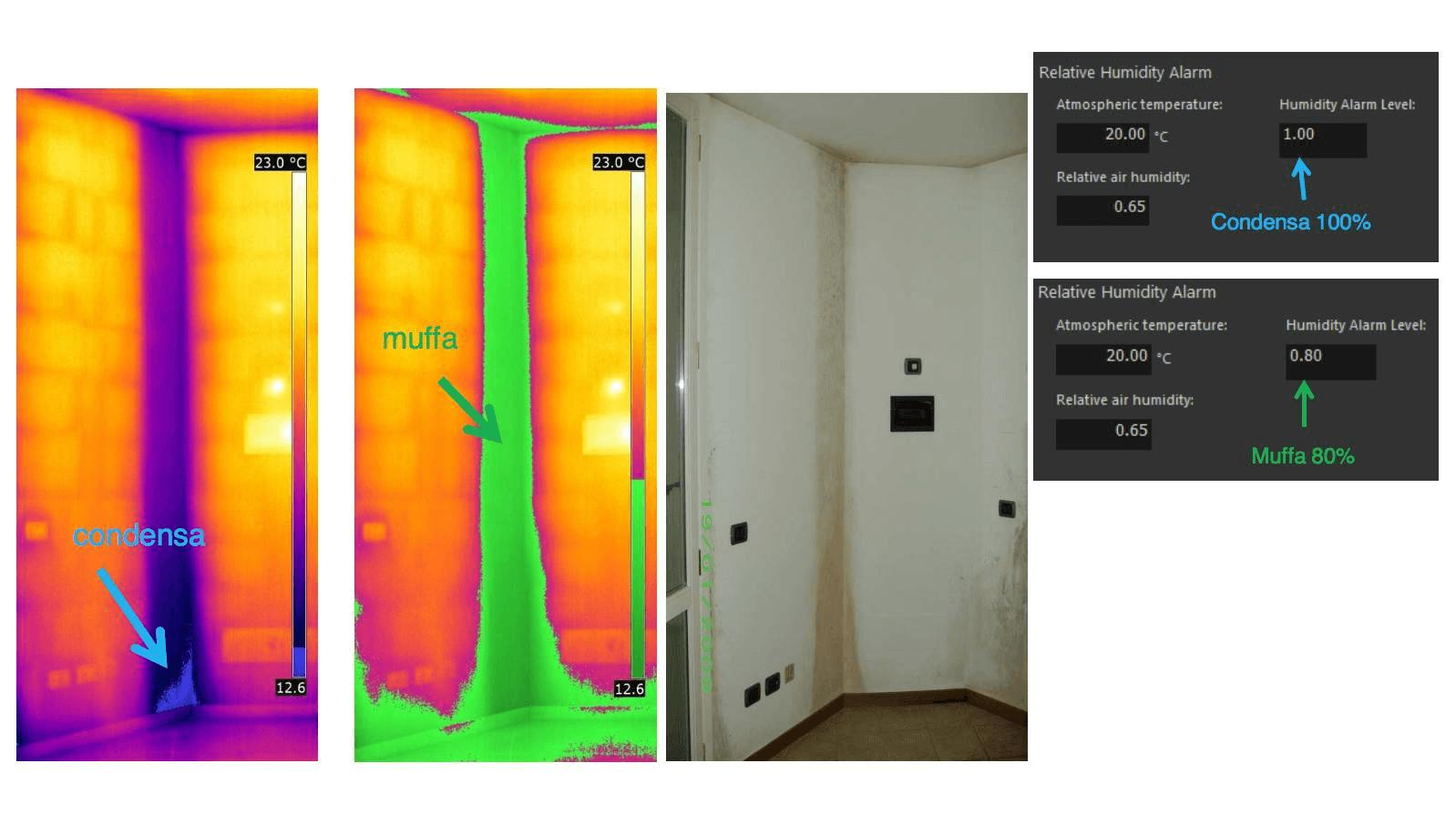 Termografia muffa e condensa - Diagramma psicrometrico termocamera