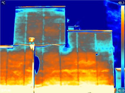 Termografia distacco di intonaco da infiltrazione di acqua