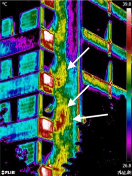 Termografia distacco di intonaco rivestimenti distaccati