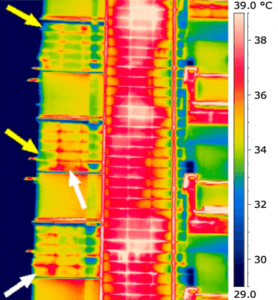 Termografia distacco di intonaco rivestimento in klinker