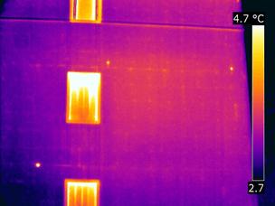 Termografia cappotti termici - Esempio capotto termico buono