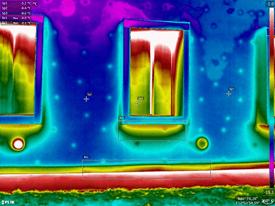 Termografia cappotti termici - Esempio capotto termico pessimo