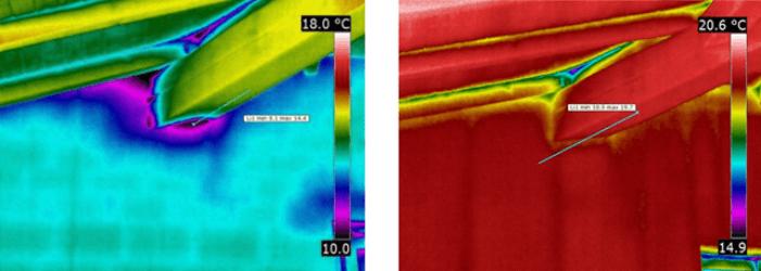 Termografia capotti termici - giunto trave-parete