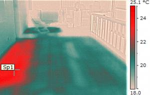 Termografia impianti riscaldamento a pavimento