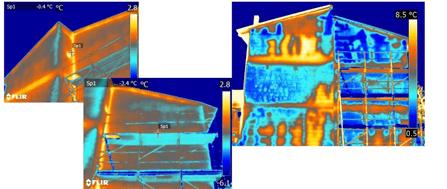 Termografia infiltrazioni acqua facciata con perdita acqua