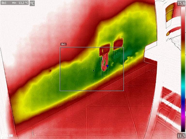 Termografia umidità di risalita cattiva impermeabilizzazione