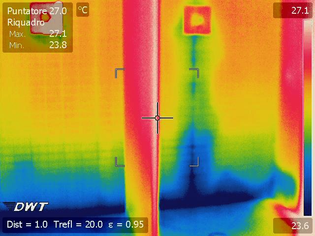 Termografia perdite di acqua doccia