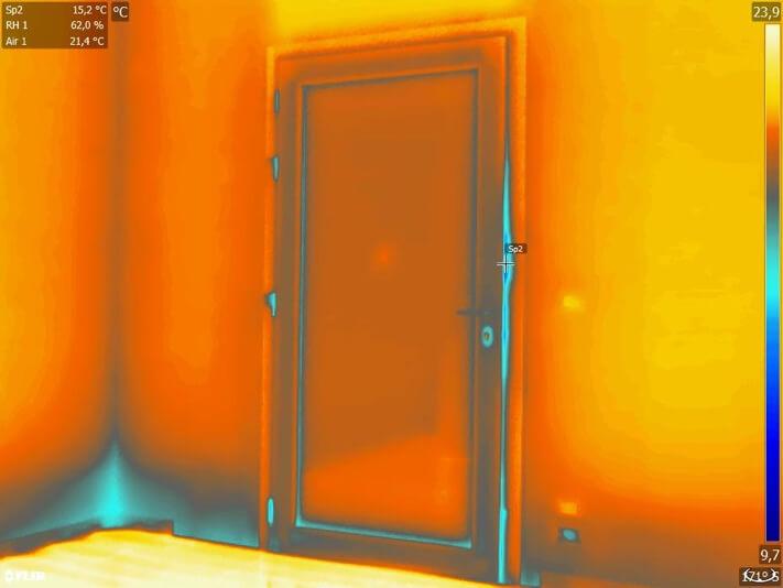 Termografia serramenti porta-finestra