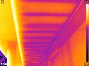 Termografia strutturale solaio sottobalcone