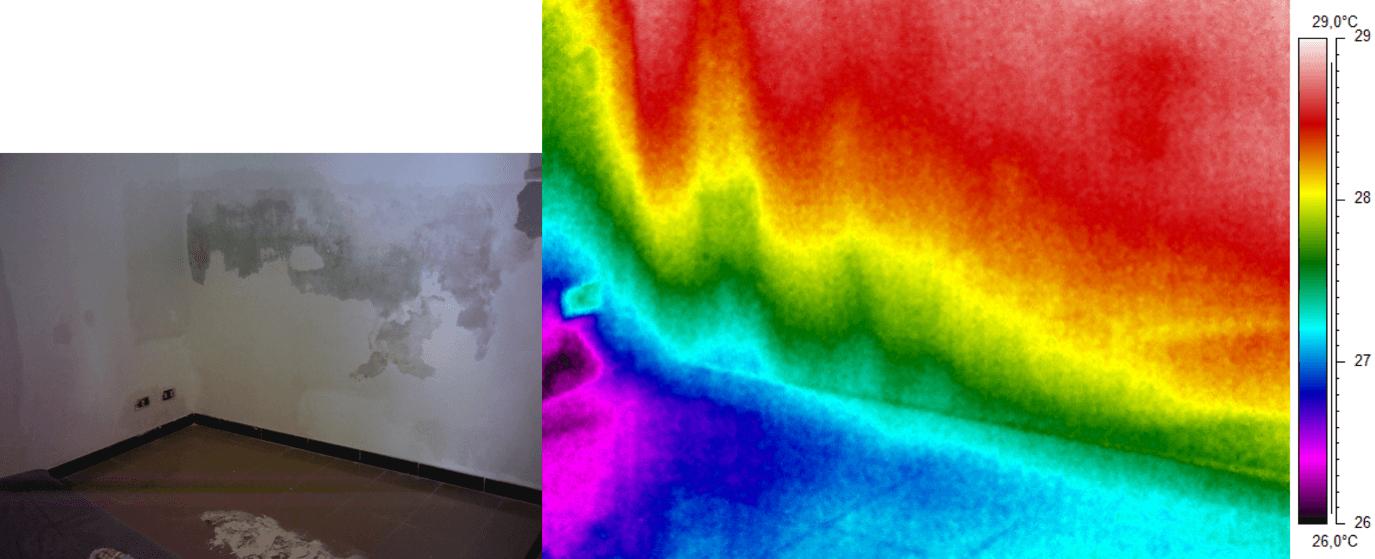 Termografia umidità di risalita muro