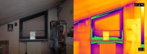 Termografia serramenti finestra con muffa