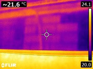 Termografia strutturale parete ufficio