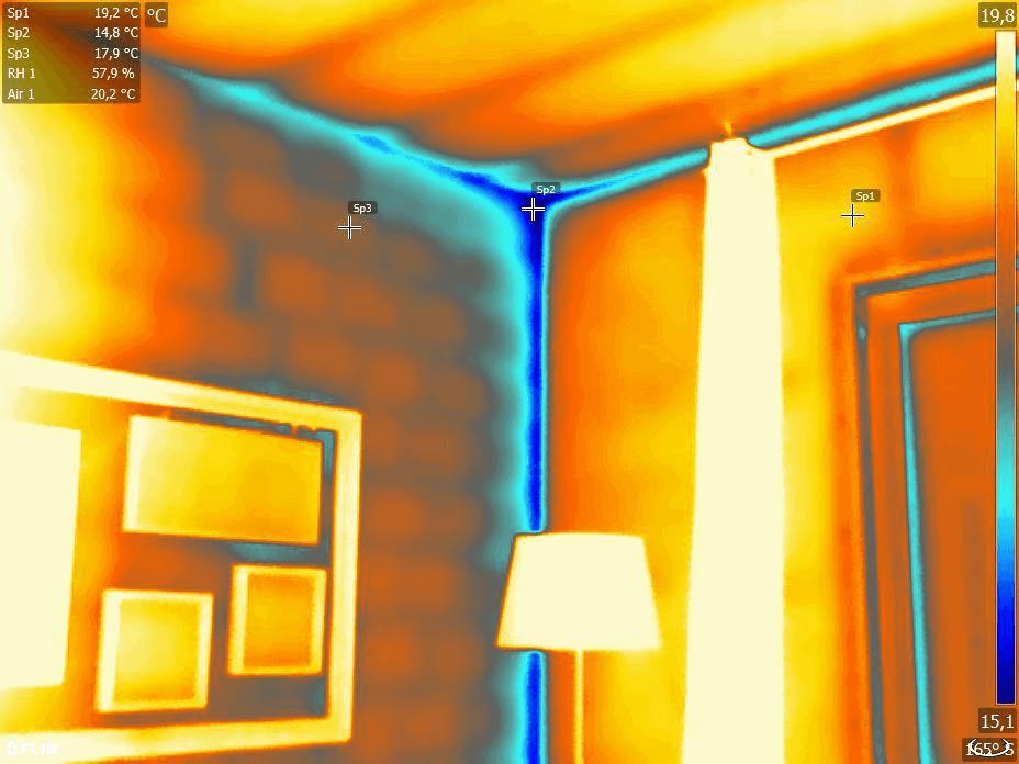 Termografia ponti termici e dispersioni energetiche - Ponte termico tetto