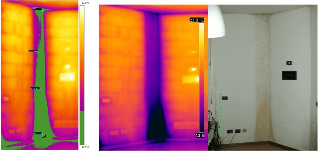 Termografia ponti termici e dispersioni energetiche - Segnalazione allarme termocamera