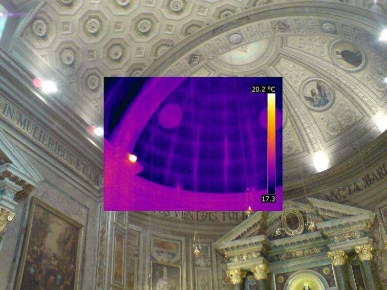 Termografia strutturale solaio chiesa antica