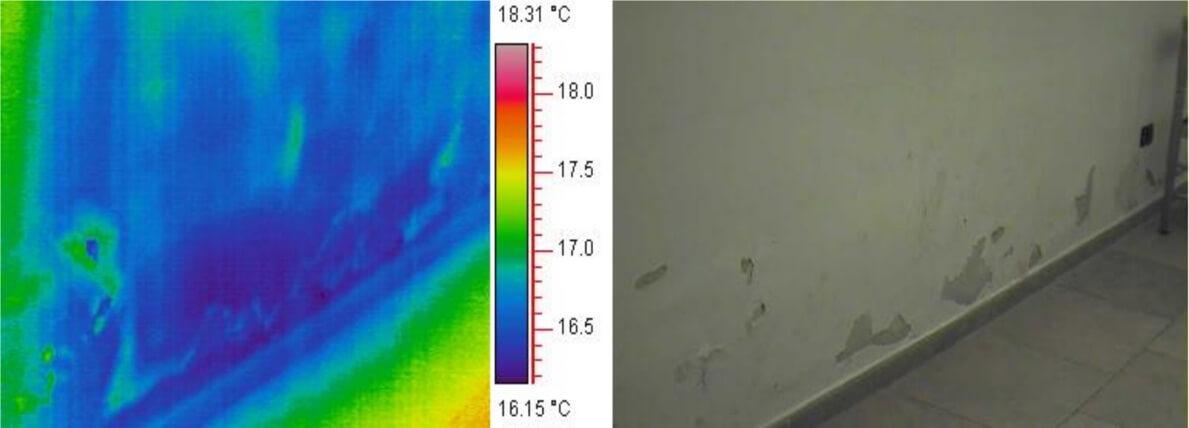 Termografia umidità di risalita - preintervento sistema risanamento