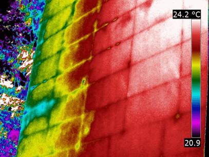 Termografia dei cappotti termici - Pannelli isolanti
