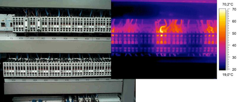 Termografia impianti elettrici - Verifica serraggio morsetti