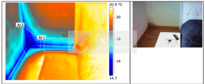 Muffa e condensa in casa - Ponte termico spigolo pavimento parete