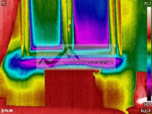 Spifferi dalle finestre ponte termico sotto-finestra